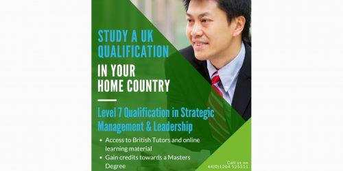 Level 7 Leadership and Management blended Learning